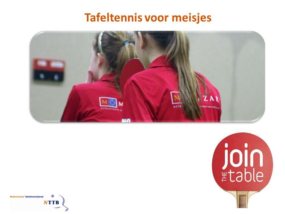 MEISJESTAFELTENNIS IN NEDERLAND Meisjes en vrouwen zijn bijzonder geschikt als trainers/coaches of voor andere (kader) vrijwilligersfuncties Waarom zijn meisjes en vrouwen belangrijk voor een vereniging.
