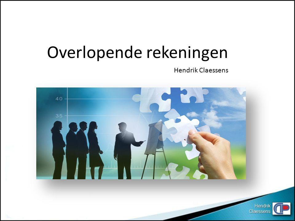 Overlopende rekeningen Hendrik Claessens