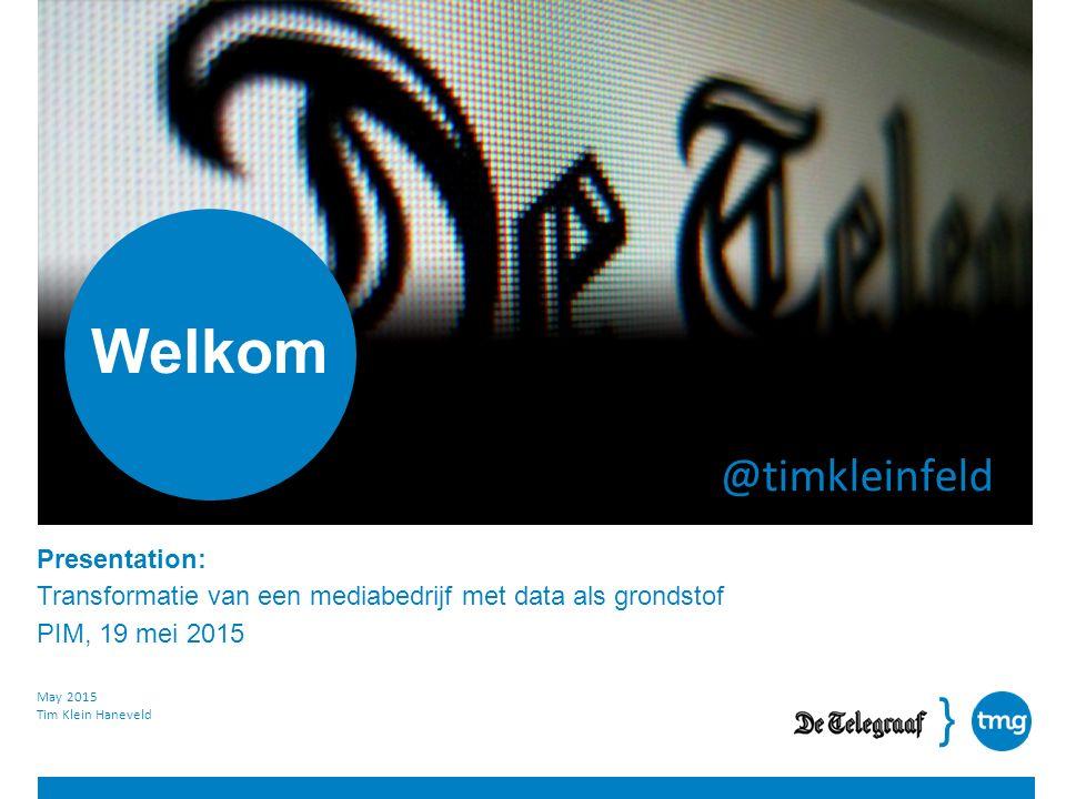 } Presentation: Overview De Telegraaf Datum: January 24, 2013 TMG NL: 16,7 miljoen inwoners TMG bereikt er daarvan dagelijks 7 miljoen.