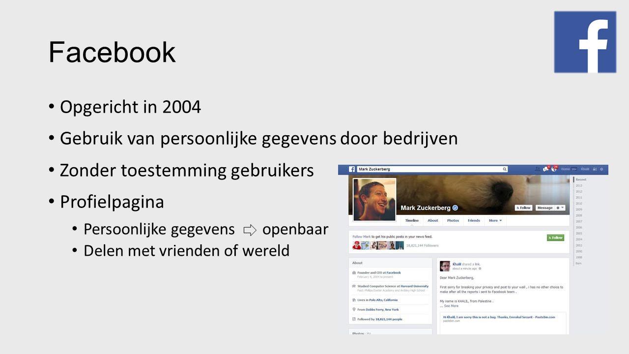 Facebook Waarom persoonlijke gegevens.