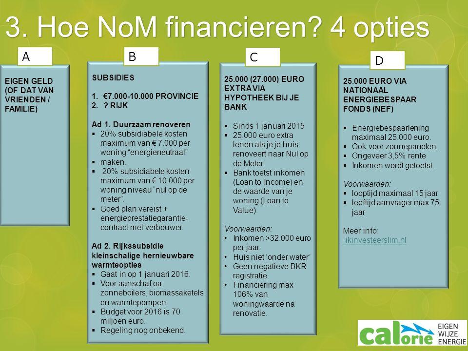 3. Hoe NoM financieren.