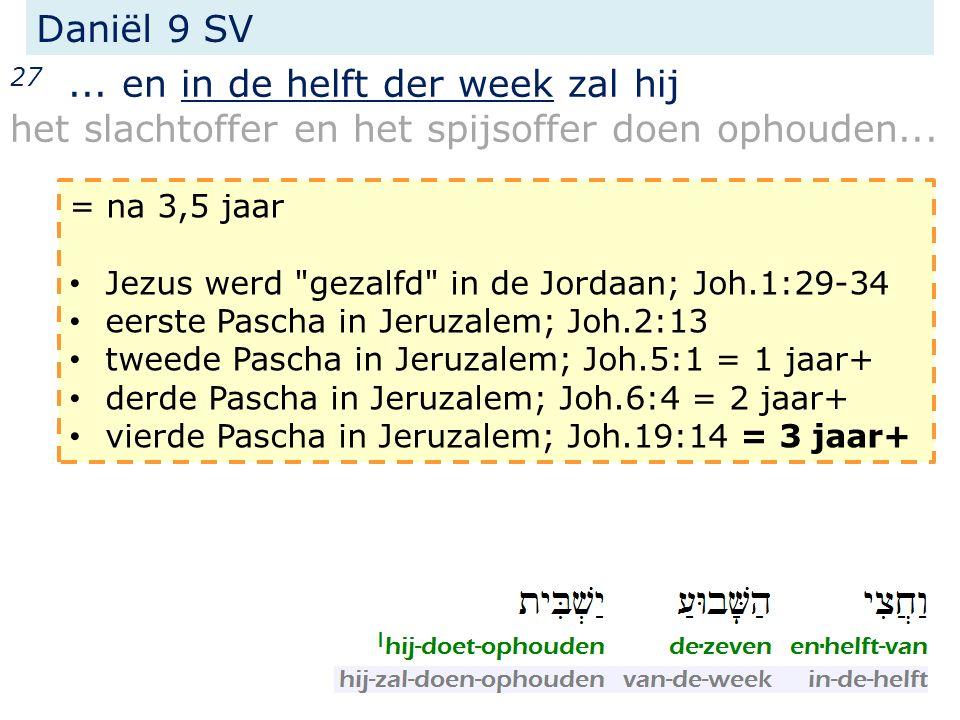 27... en in de helft der week zal hij het slachtoffer en het spijsoffer doen ophouden...