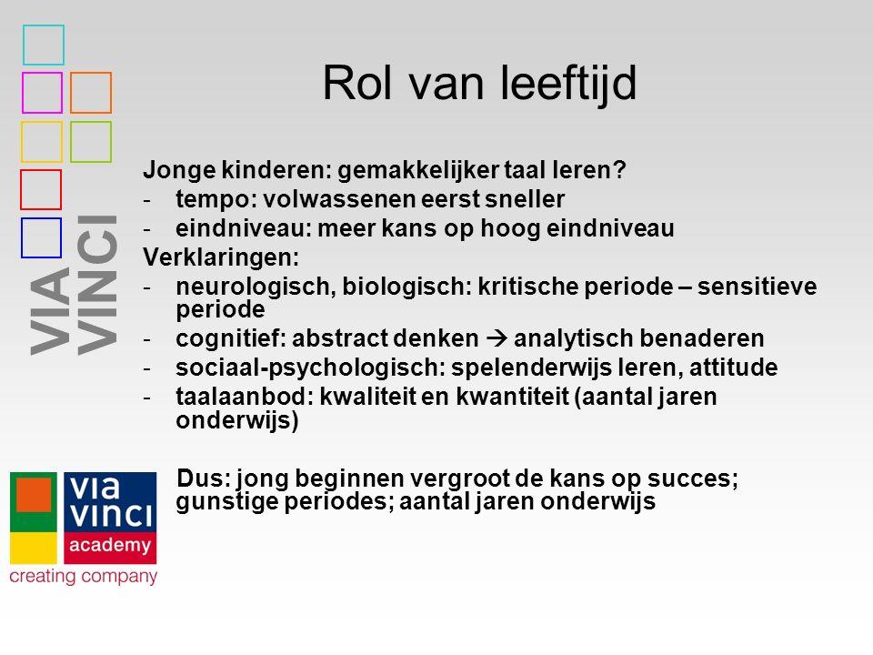 VIAVINCI Praktische tips www.nt2taalmenu.nl Maak met de anderstalige leerlingen woordspinnen en breid deze uit als ze woorden erbij leren (voordeel=clusteren).