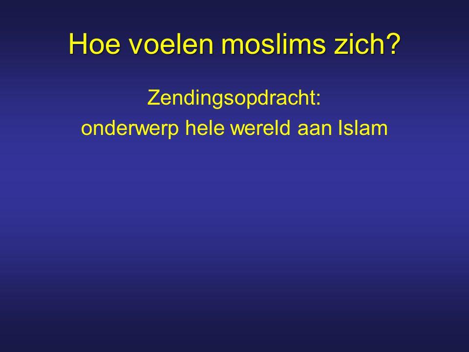 Hoe voelen moslims zich? Zendingsopdracht: onderwerp hele wereld aan Islam