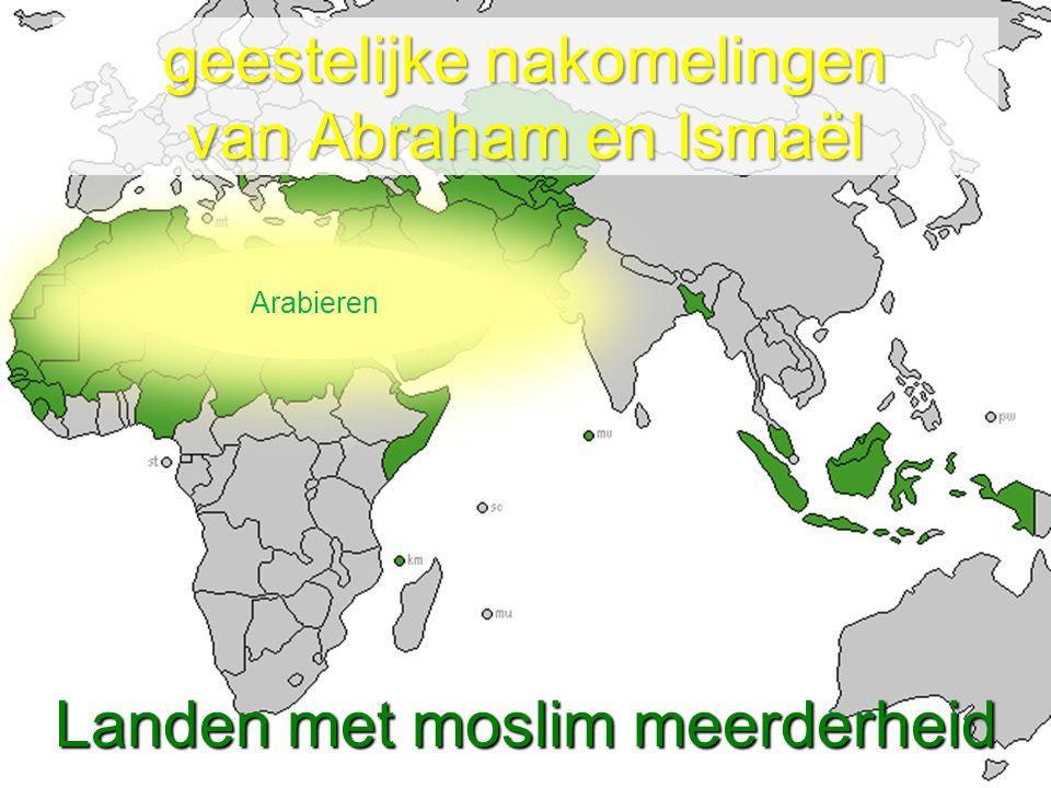 Landen met moslim meerderheid geestelijke nakomelingen van Abraham en Ismaël Arabieren