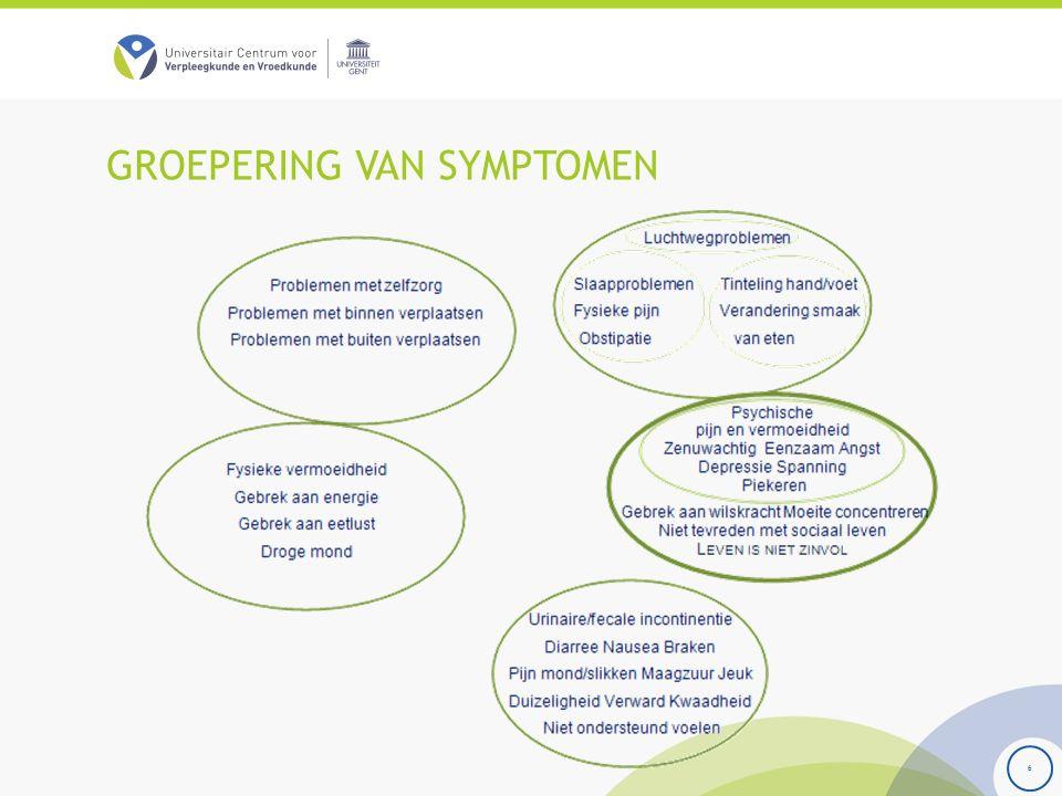 GROEPERING VAN SYMPTOMEN 6