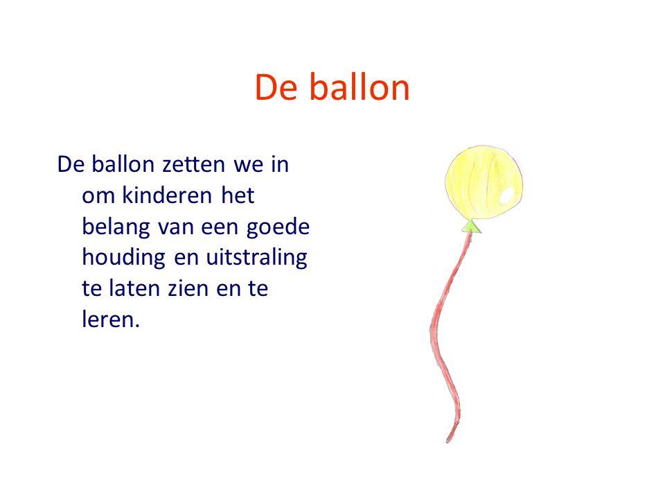 De ballon De ballon zetten we in om kinderen het belang van een goede houding en uitstraling te laten zien en te leren.