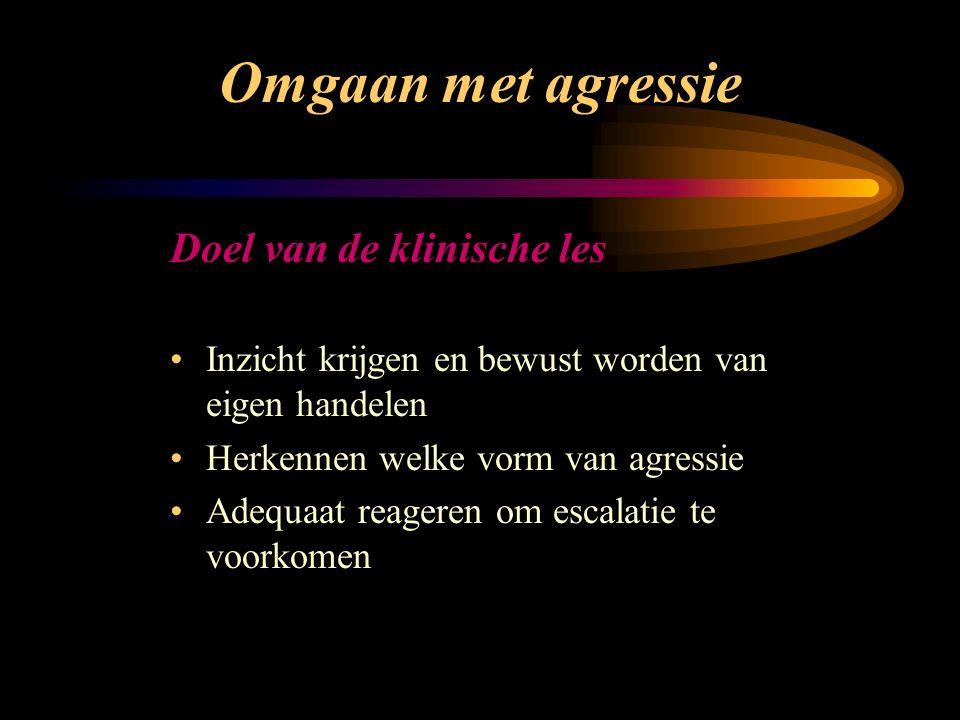 Omgaan met agressie Dialyse afdeling van het MMC Acteur: Ton van Noppen Trainer: Miriam Zwijsen Klinische les 6 mei 2003