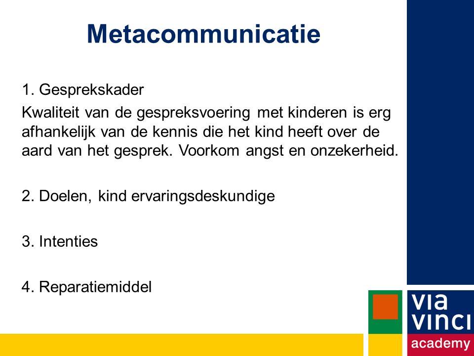 Metacommunicatie 1.