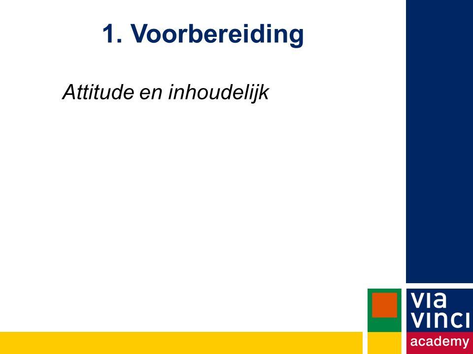 1. Voorbereiding Attitude en inhoudelijk