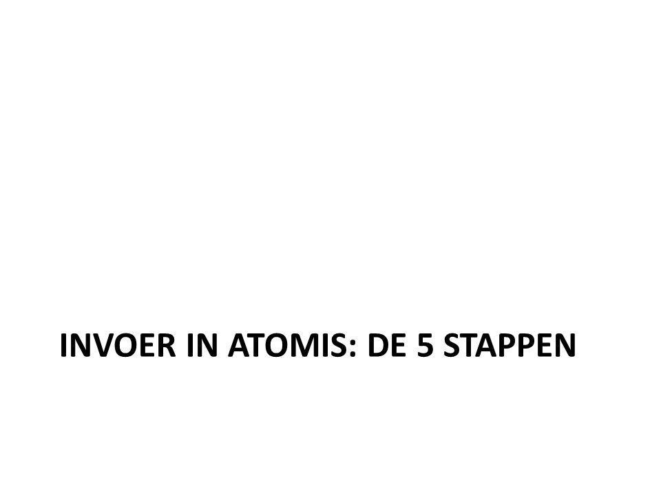 INVOER IN ATOMIS: DE 5 STAPPEN