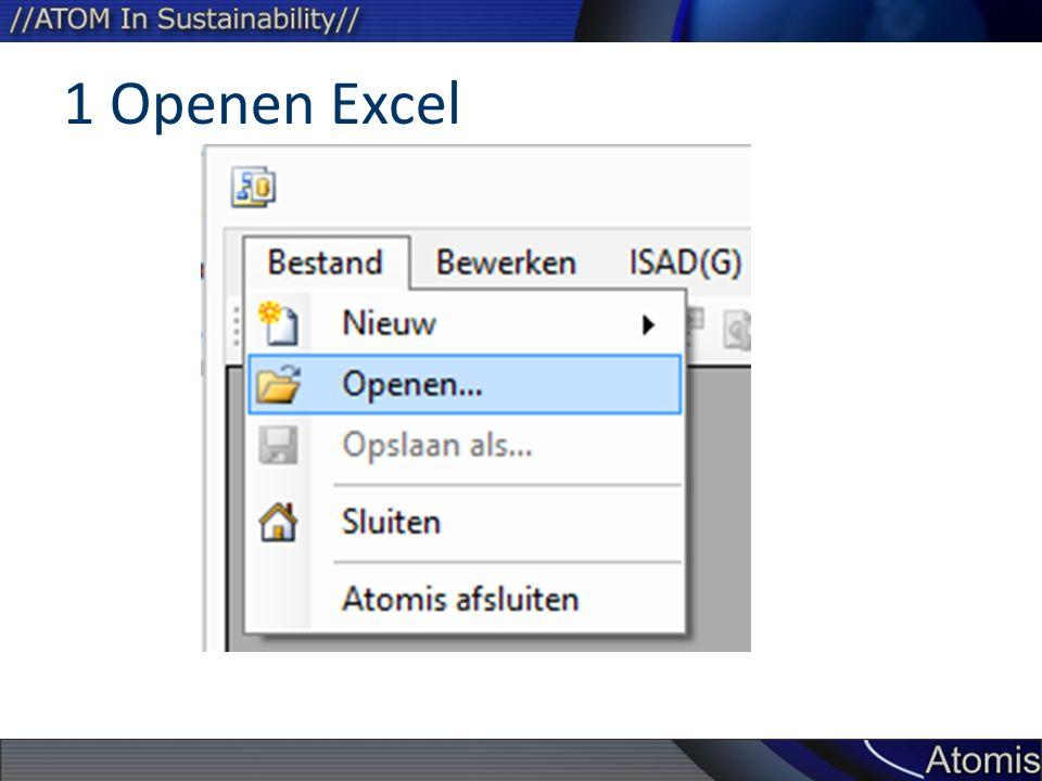 1 Openen Excel