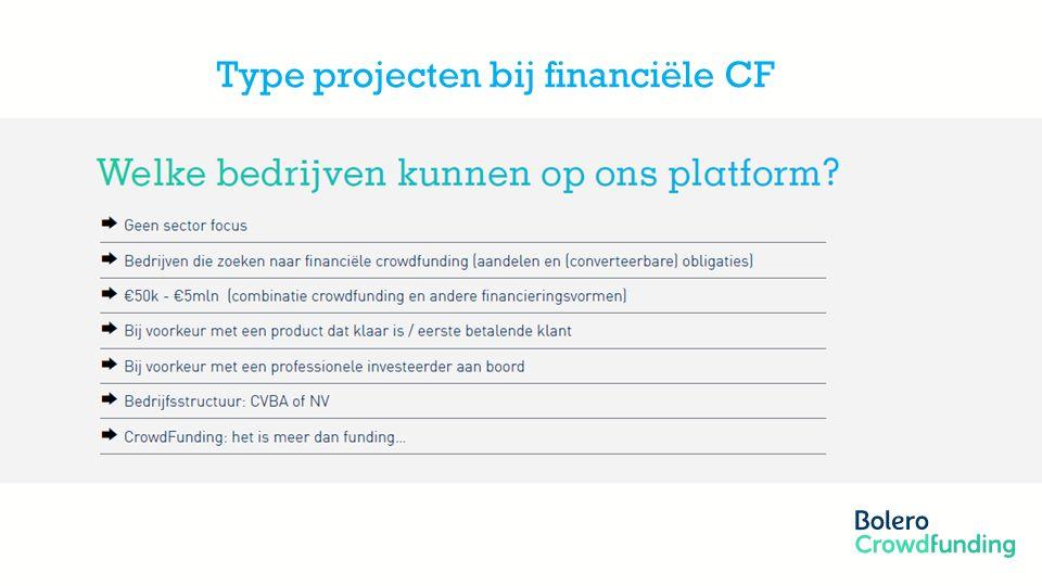 Member of the KBC group Type projecten bij financiële CF