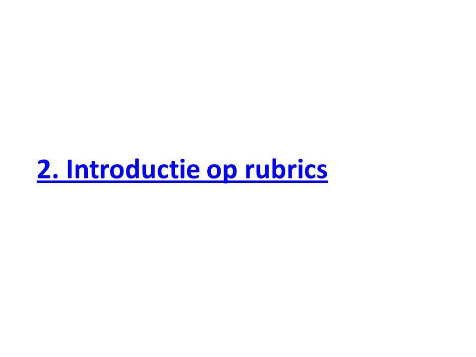 2. Introductie op rubrics