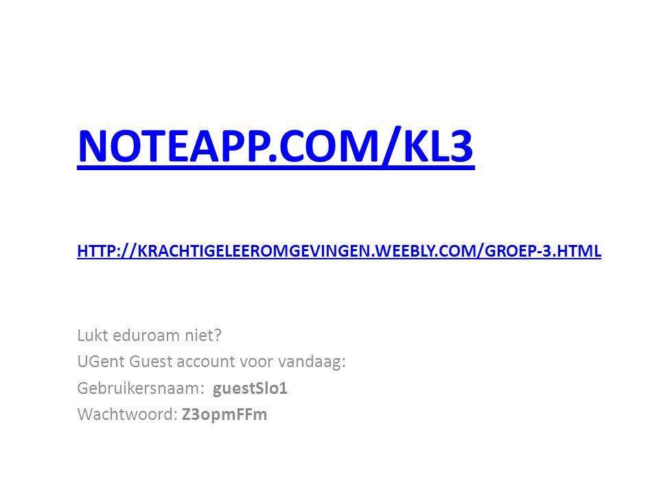 NOTEAPP.COM/KL3 Lukt eduroam niet.