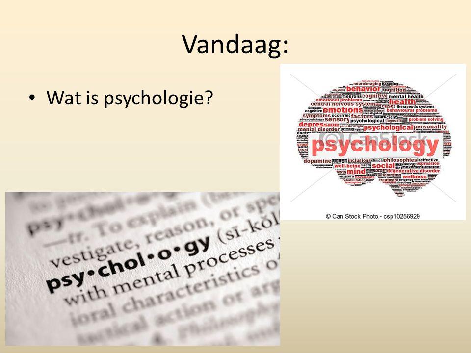 Vandaag: Wat is psychologie