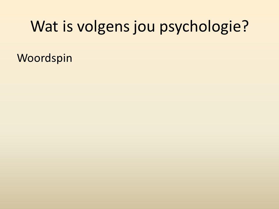 Wat is volgens jou psychologie Woordspin