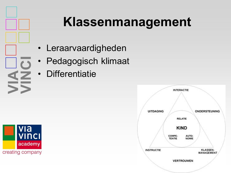 VIAVINCI Klassenmanagement Leraarvaardigheden Pedagogisch klimaat Differentiatie