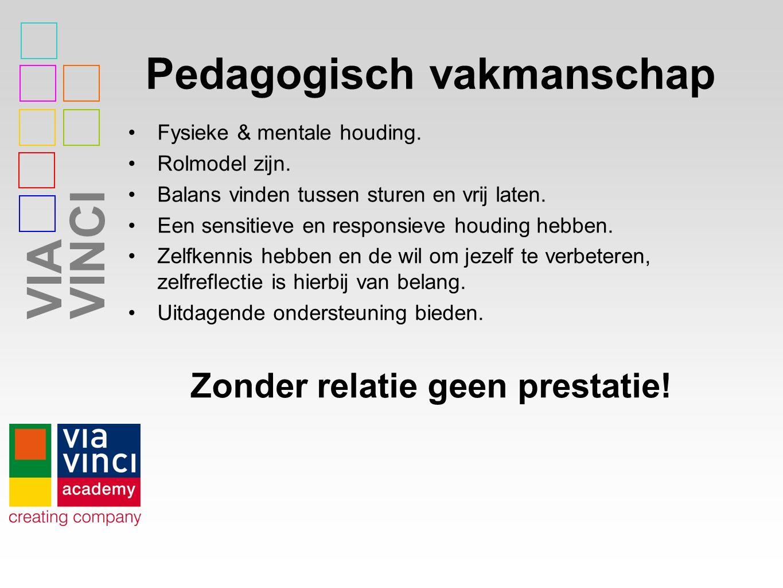VIAVINCI Pedagogisch vakmanschap Fysieke & mentale houding.