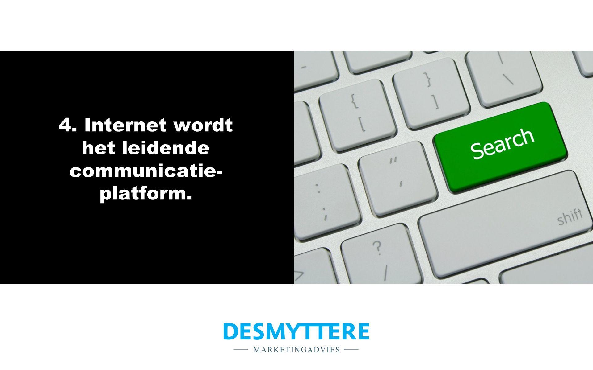 4. Internet wordt het leidende communicatie- platform.