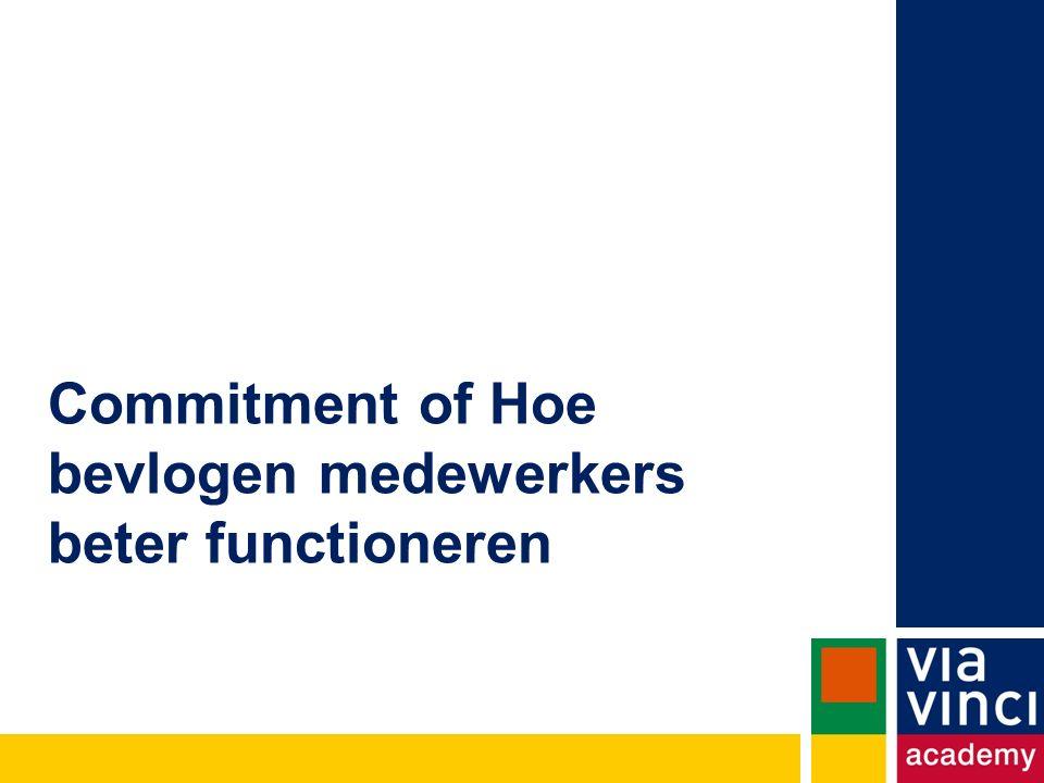 Commitment of Hoe bevlogen medewerkers beter functioneren
