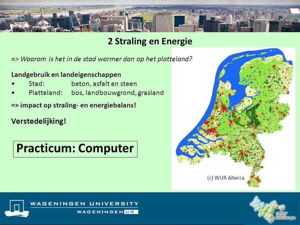 Landgebruik en landeigenschappen Stad: beton, asfalt en steen Platteland: bos, landbouwgrond, grasland Landgebruikkaart van Nederland (1900 vs 2000) =