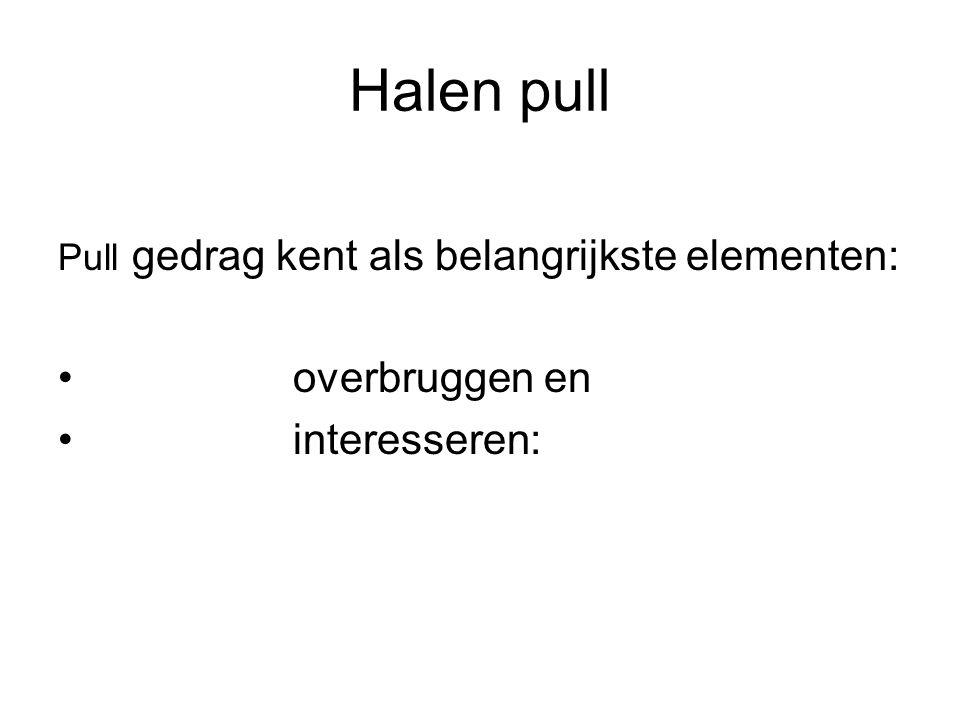 Halen pull Pull gedrag kent als belangrijkste elementen: overbruggen en interesseren: