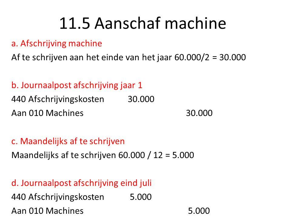 11.5 Aanschaf machine e.