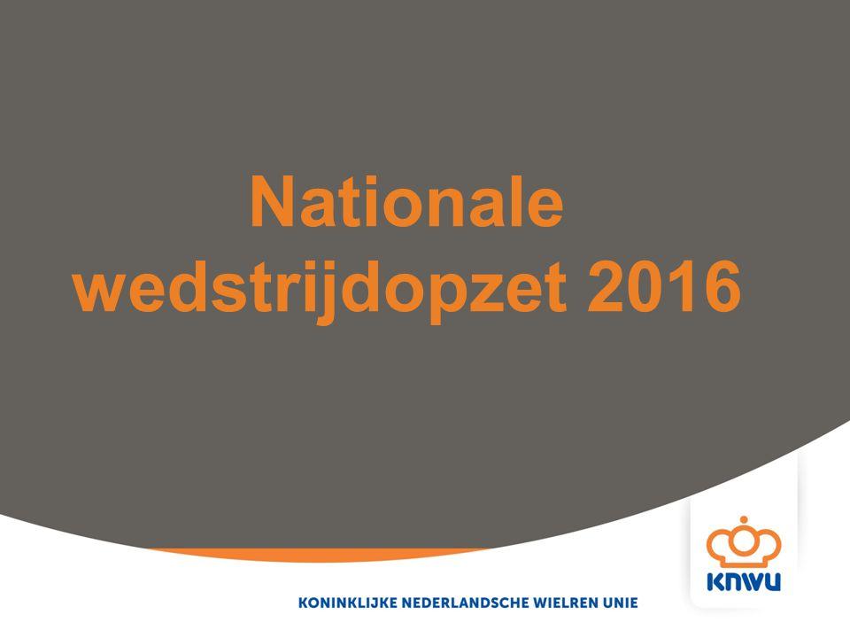 Nationale wedstrijdopzet 2016