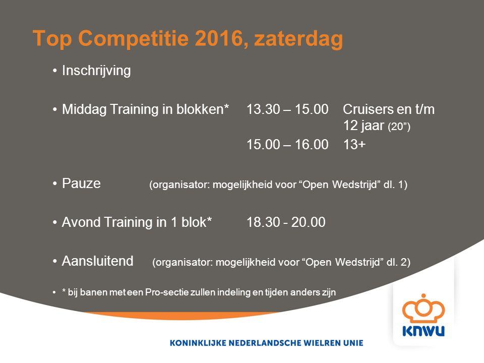 """Inschrijving Middag Training in blokken* 13.30 – 15.00Cruisers en t/m 12 jaar (20"""") 15.00 – 16.00 13+ Pauze (organisator: mogelijkheid voor """"Open Weds"""