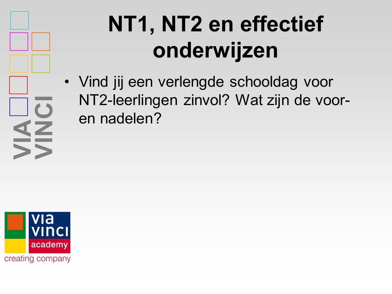 VIAVINCI NT1, NT2 en effectief onderwijzen Vind jij een verlengde schooldag voor NT2-leerlingen zinvol? Wat zijn de voor- en nadelen?