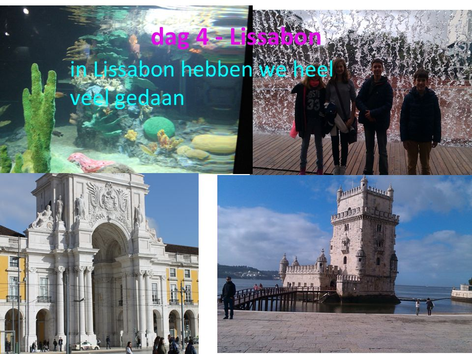 dag 4 - Lissabon in Lissabon hebben we heel veel gedaan