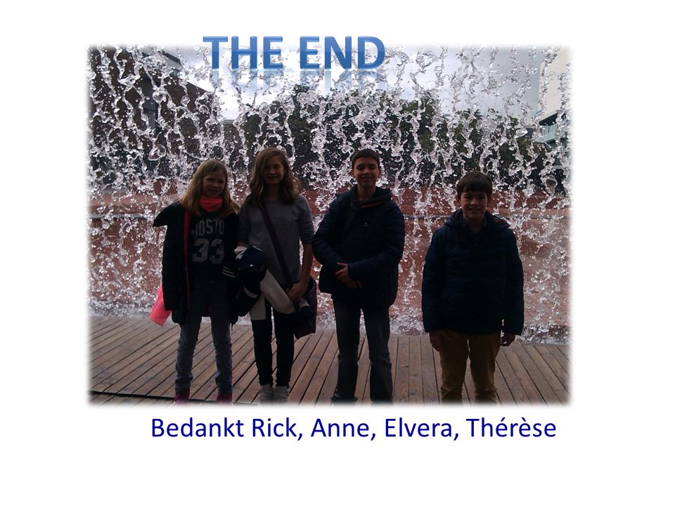 Bedankt Rick, Anne, Elvera, Thérèse