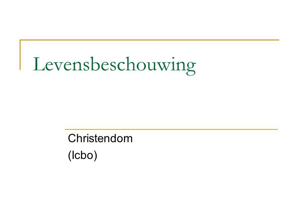Levensbeschouwing Christendom (Icbo)