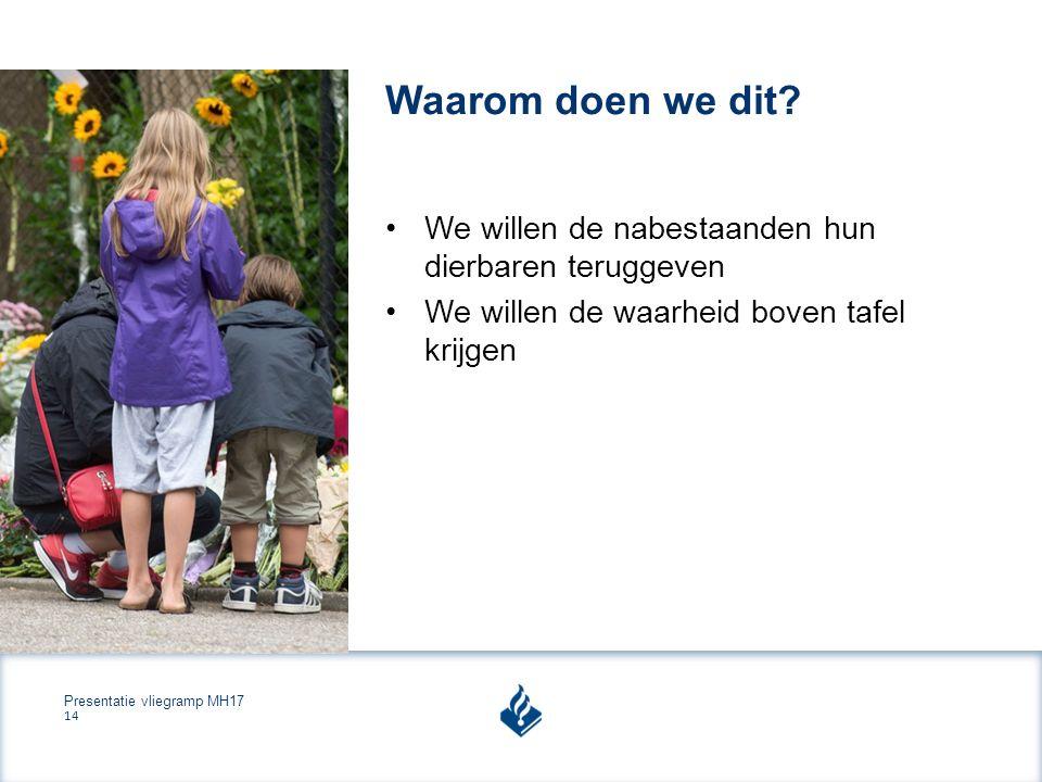 Presentatie vliegramp MH17 14 Waarom doen we dit.