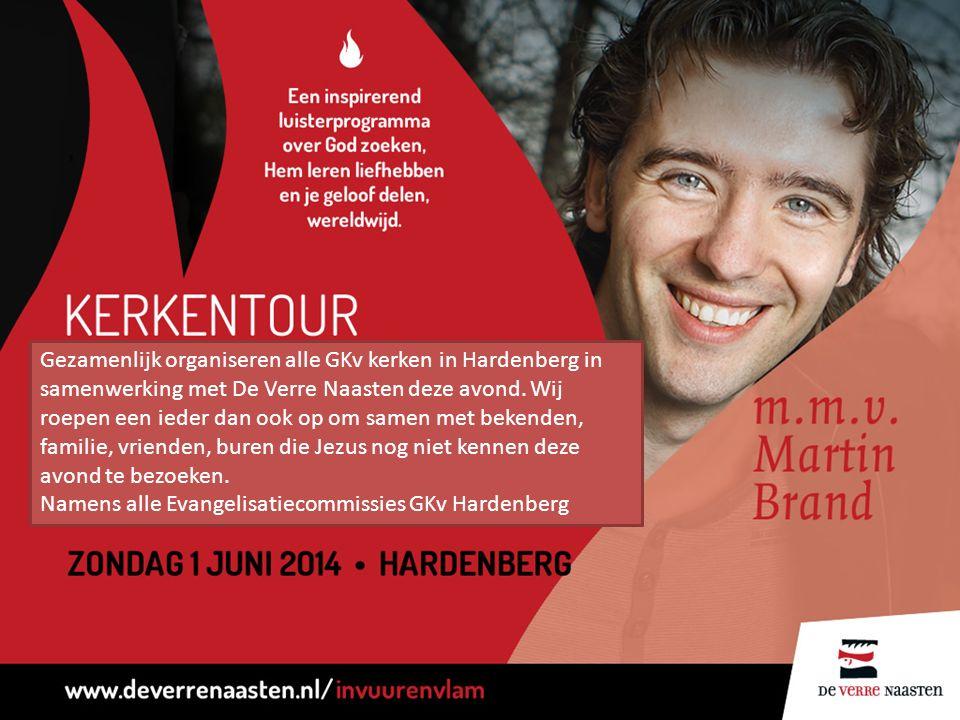 Gezamenlijk organiseren alle GKv kerken in Hardenberg in samenwerking met De Verre Naasten deze avond.