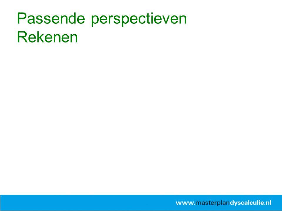 www.passendeperspectieven.slo.nl Passende perspectieven Rekenen