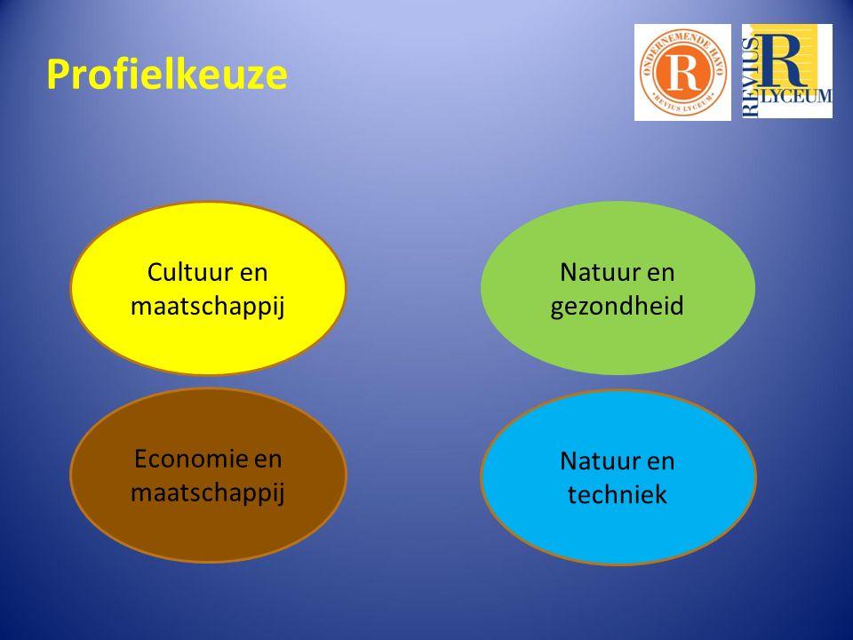 Profielkeuze Cultuur en maatschappij Natuur en gezondheid Economie en maatschappij Natuur en techniek