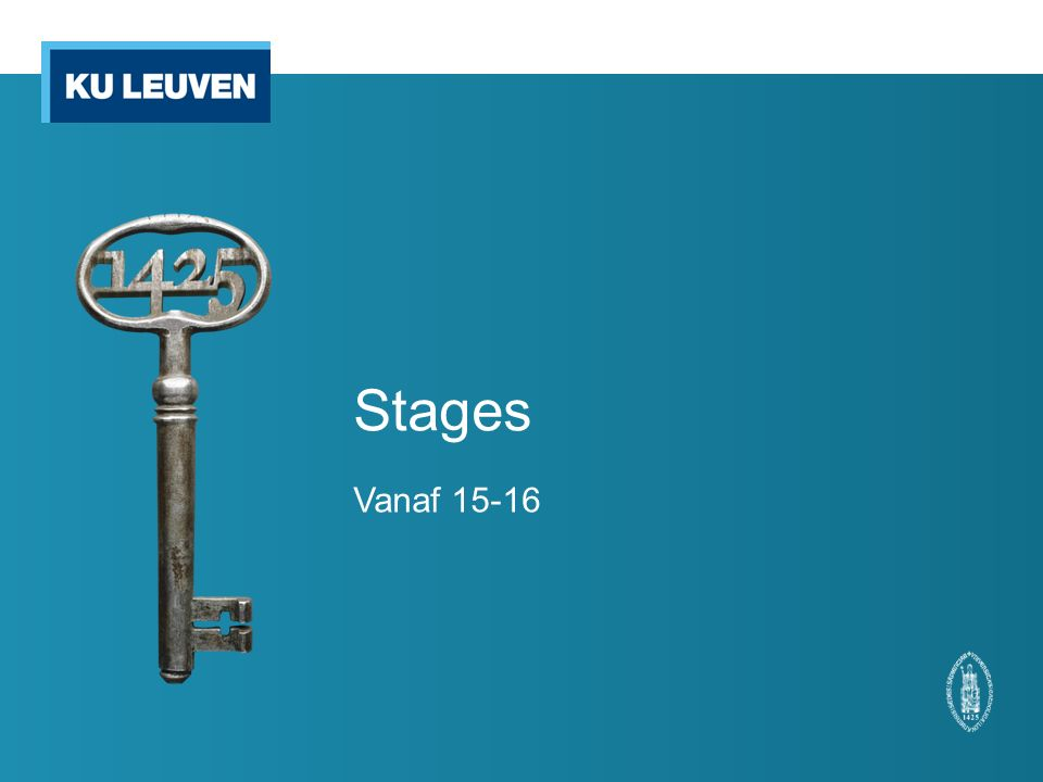 Klinische stage 1 e master Wanneer mag een student starten met de stage Planning (stage versus les)