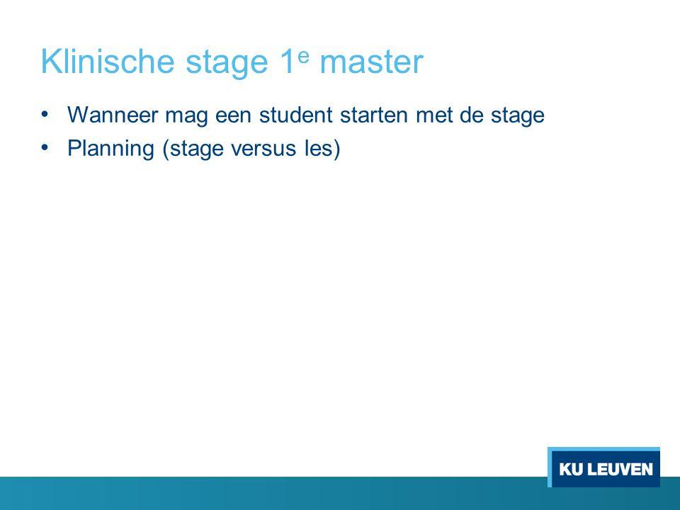 Klinische stage 1 e master Vraag: Kunnen we ervoor zorgen dat de studenten zich evenredig verdelen voor zomerstage (helft p1, helft p2)?