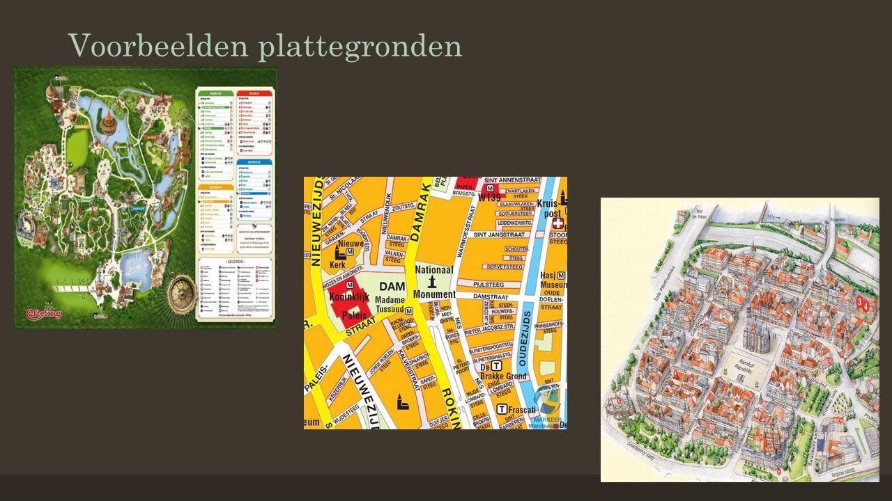 Voorbeelden plattegronden