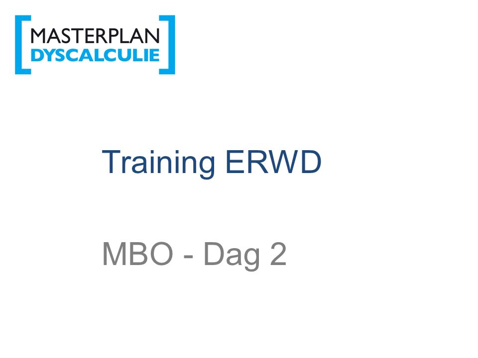 ERWD Training ERWD MBO - Dag 2