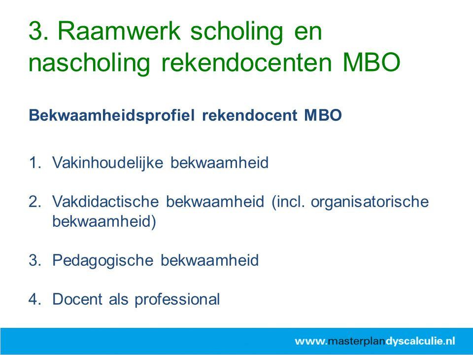 Bekwaamheidsprofiel rekendocent MBO 1.Vakinhoudelijke bekwaamheid 2.Vakdidactische bekwaamheid (incl.