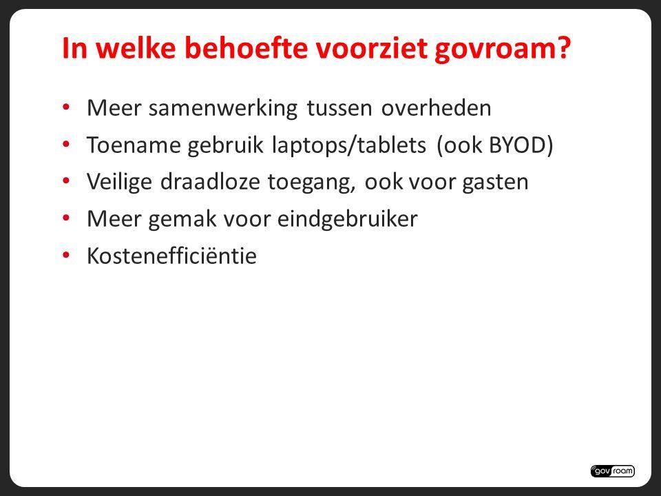 wat biedt govroam aan gemeenten? gemak / gastvrijheid veiligheid kostenefficiëntie
