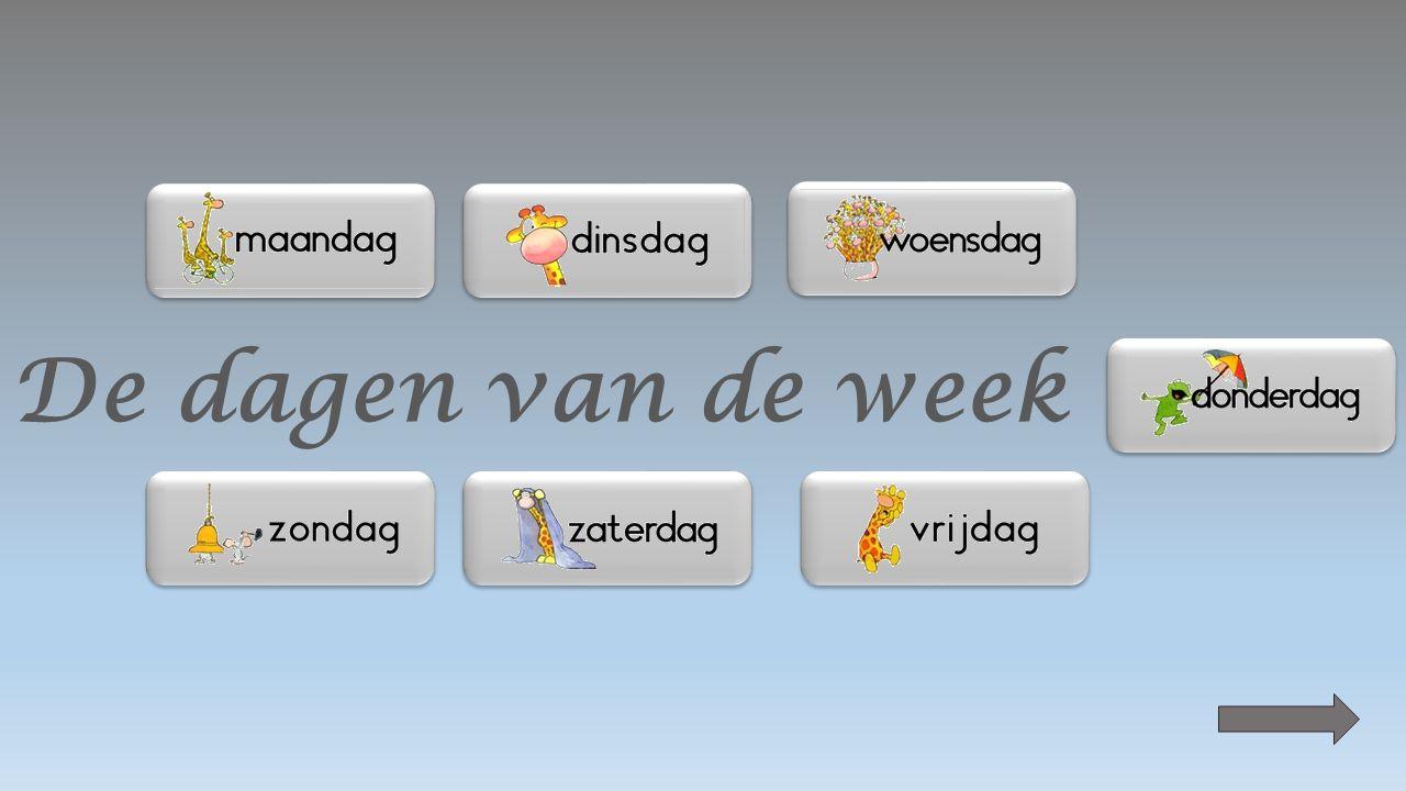 De dagen van de week