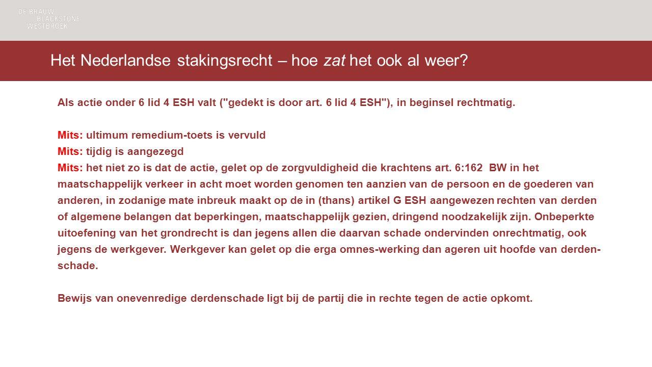 Het Nederlandse stakingsrecht – hoe zat het ook al weer.