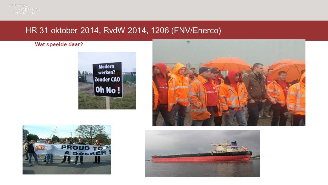 HR 31 oktober 2014, RvdW 2014, 1206 (FNV/Enerco) Wat speelde daar