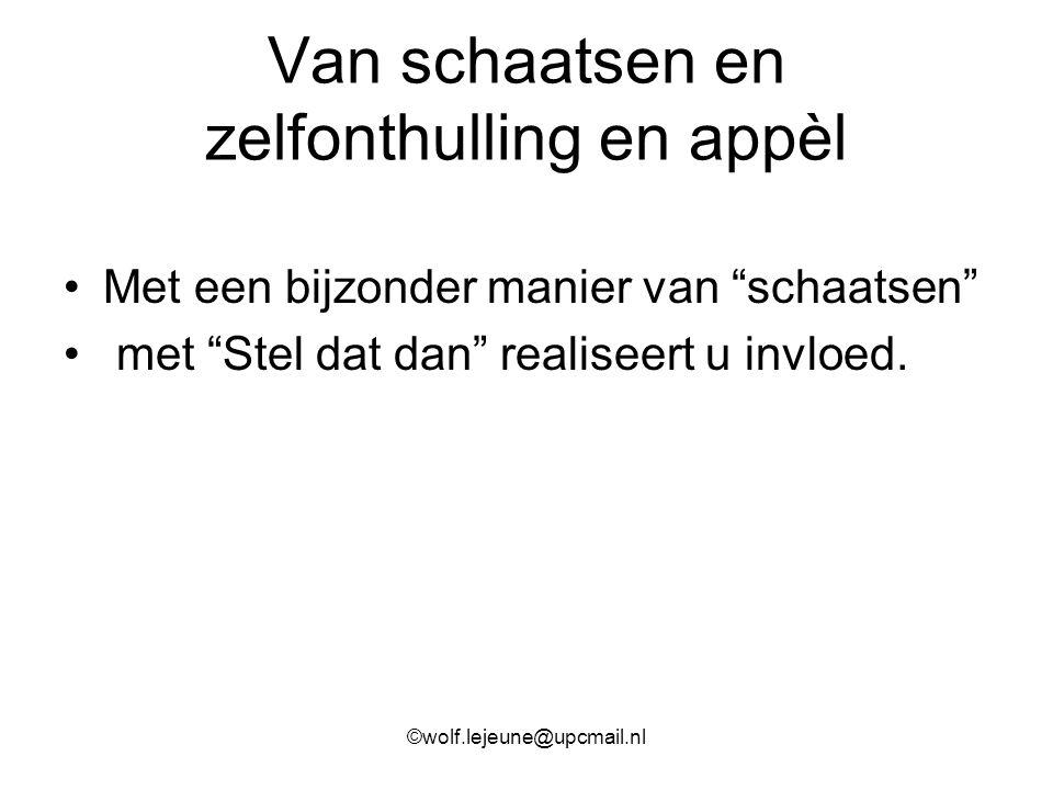 """Van schaatsen en zelfonthulling en appèl Met een bijzonder manier van """"schaatsen"""" met """"Stel dat dan"""" realiseert u invloed. ©wolf.lejeune@upcmail.nl"""