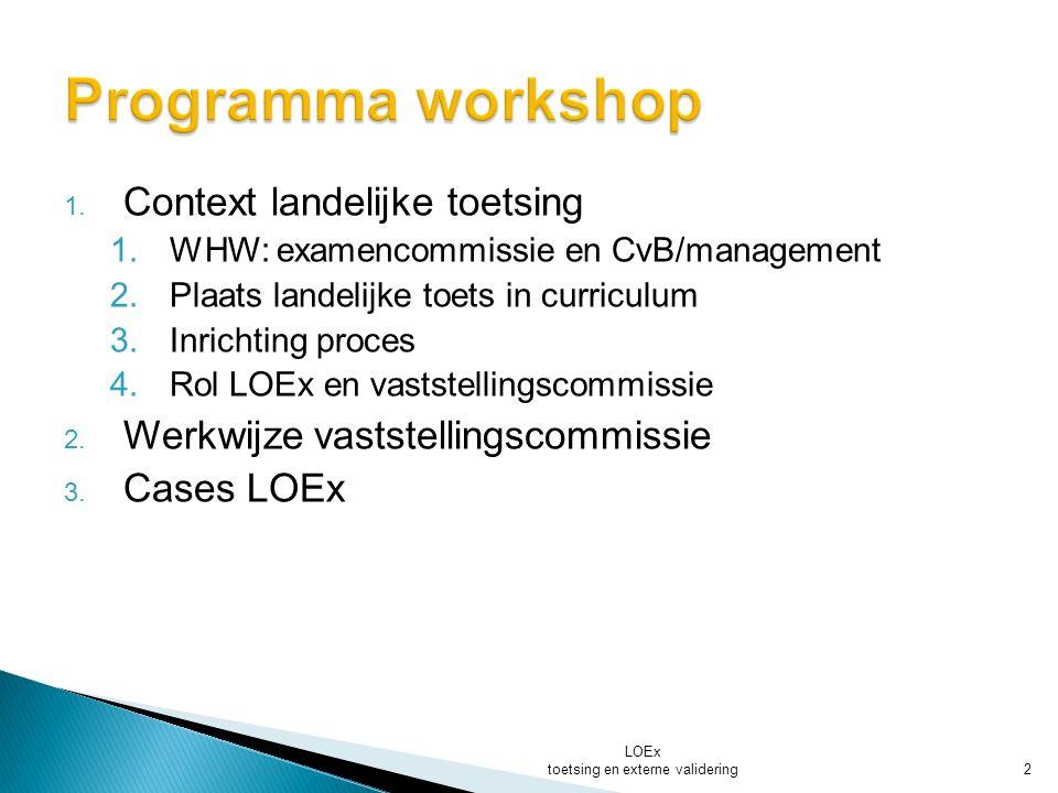 CvB-Management examencommissie LOEx toetsing en externe validering 3