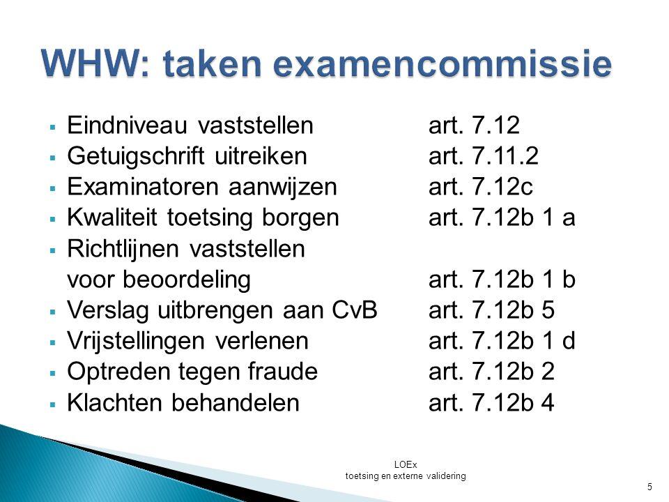 LOEx toetsing en externe validering 6